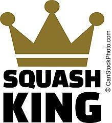 koning, kroon, squash