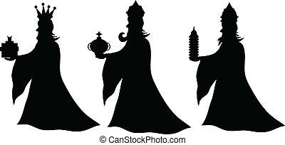 koningen, drie