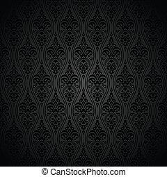 koninklijk, behang, black , seamless