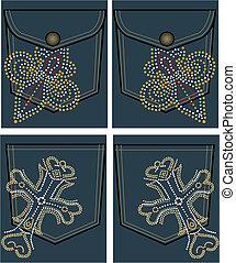 koninklijk, ontwerp, kruis, stoeterij