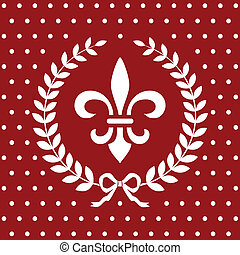 koninklijk, rode achtergrond