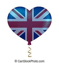 koninkrijk, hart gedaante, verenigd, vlag