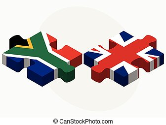 koninkrijk, verenigd, raadsel, afrika, vlaggen, zuiden