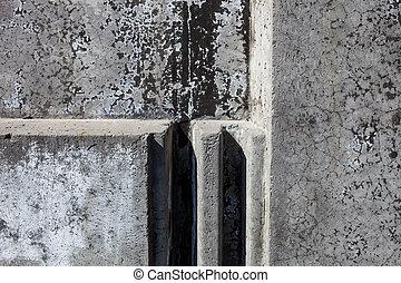 konkretne kloce, szary, powierzchnia