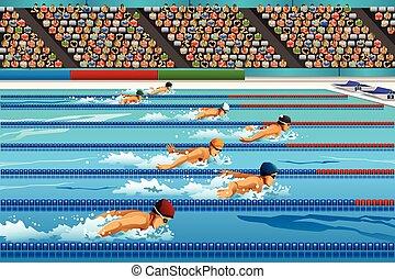 konkurrenz, schwimmender