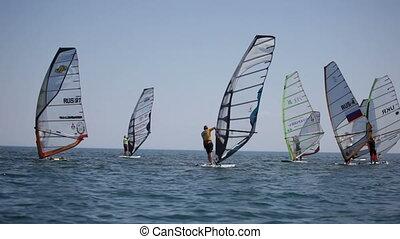 konkurrenzen, in, windsurfing