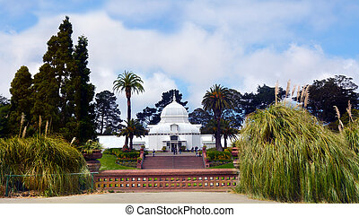 konserwatorium, od, kwiaty, w, brama złotego park, san francisco, kalifornia