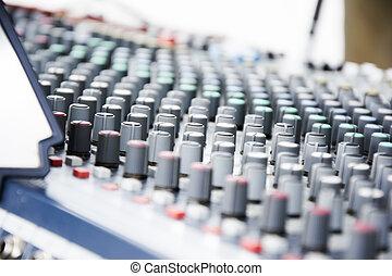 konsole, musik- ausrüstung