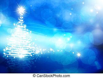 konst, abstrakt, jul, blåttbakgrund