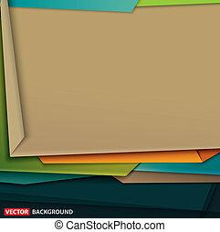 konst, abstrakt, papper, design, färgrik