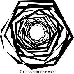 konst, abstrakt, strukturerad, isolerat, skarp, form,...