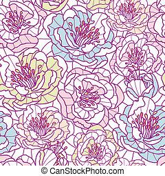 konst, färgrik, mönster, seamless, bakgrund, fodra, blomningen