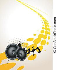 konst, högtalare, musik
