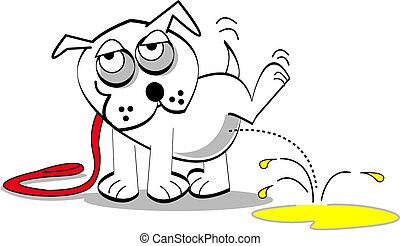 konst, hund, klippa