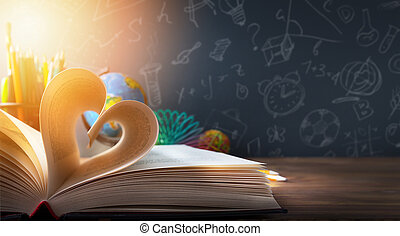 konst, sedan till utbilda, background;, upptäckt, utbildning