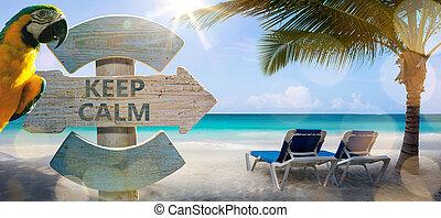 konst, semester, på, den, hav, bakgrund