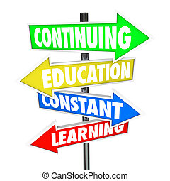 konstante, fortsetzen, straße, lernen, zeichen & schilder, bildung