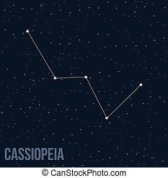 konstellation, cassiopeia
