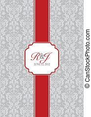 konstrukce, dlouho, vektor, červené šaty grafické pozadí, lem