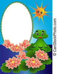 konstrukce, lilie, a, žába, dále, oběh, konzervativní