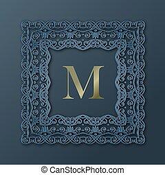 konstrukce, monogram, design