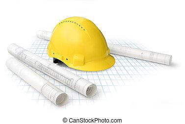konstrukce, nakreslit plán