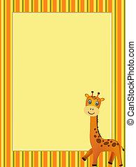 konstrukce, s, žirafa, ilustrace