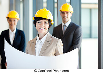 konstruktion, affärskvinna