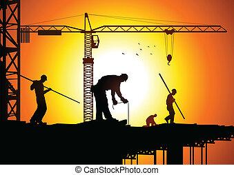 konstruktion arbejder