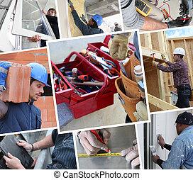 konstruktion arbejdere