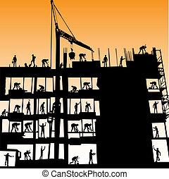 konstruktion arbejdere, vektor