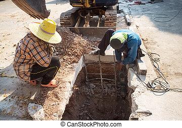 konstruktion, Arbetare