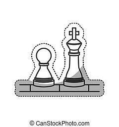 konstruktion, isoleret, chess