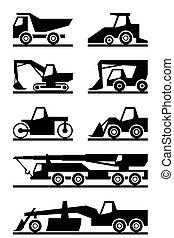 konstruktion maskineri, vej