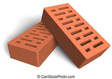 konstruktion, mursten