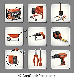 konstruktion, redskaberne, iconerne