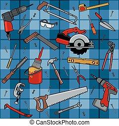 konstruktion, redskaberne, mønster