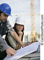 konstruktion sajt, arbetare