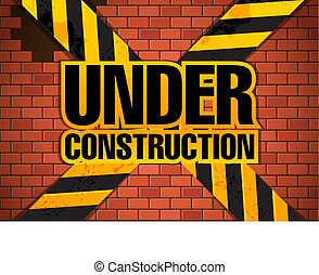 konstruktion site, skabelon, under