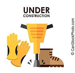 konstruktion, under, konstruktion