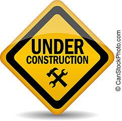 konstruktion under, vektor, underteckna