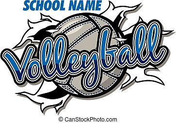 konstruktion, volleyball, hold