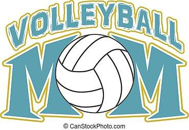 konstruktion, volleyball, mor