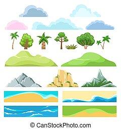 konstruktor, krajobraz, rysunek