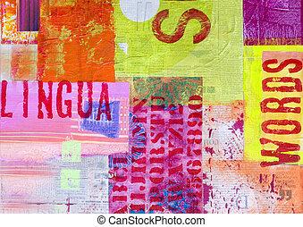 konstverk, collage