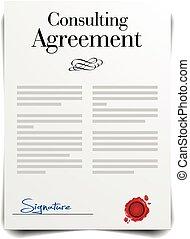 konsultera, överenskommelse