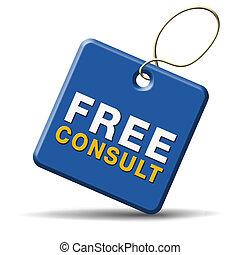 konsultera, gratis, ikon
