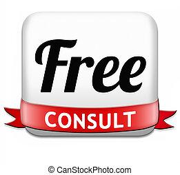 konsultować, wolny