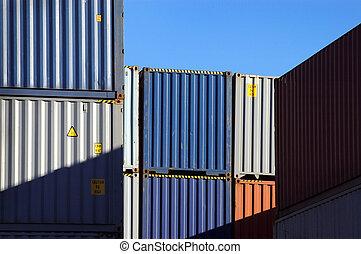 konténer, hajózás