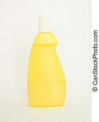 konténer, sárga, műanyag